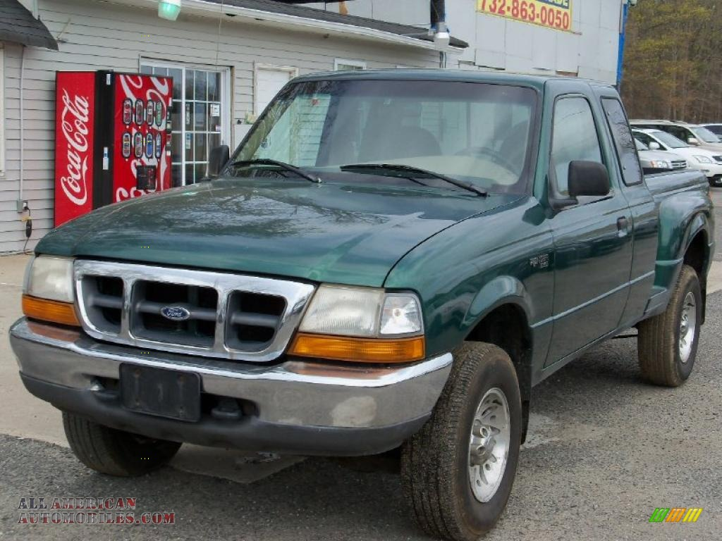 1999 ford ranger xlt extended cab 4x4 in amazon green metallic photo 2 a65249 all american. Black Bedroom Furniture Sets. Home Design Ideas