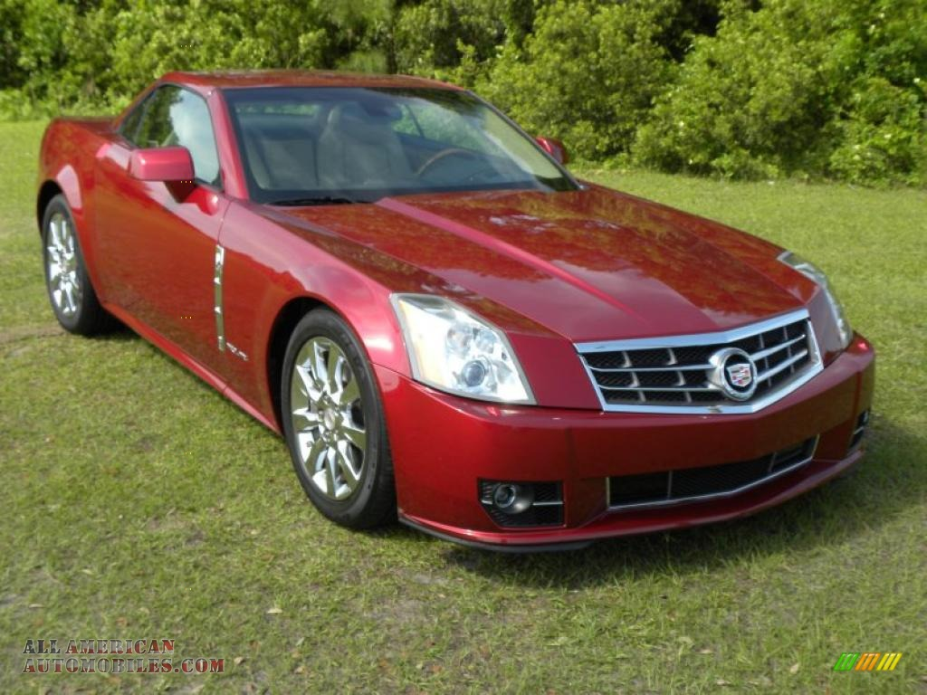 Crystal Red / Cashmere/Ebony Cadillac XLR Platinum Roadster