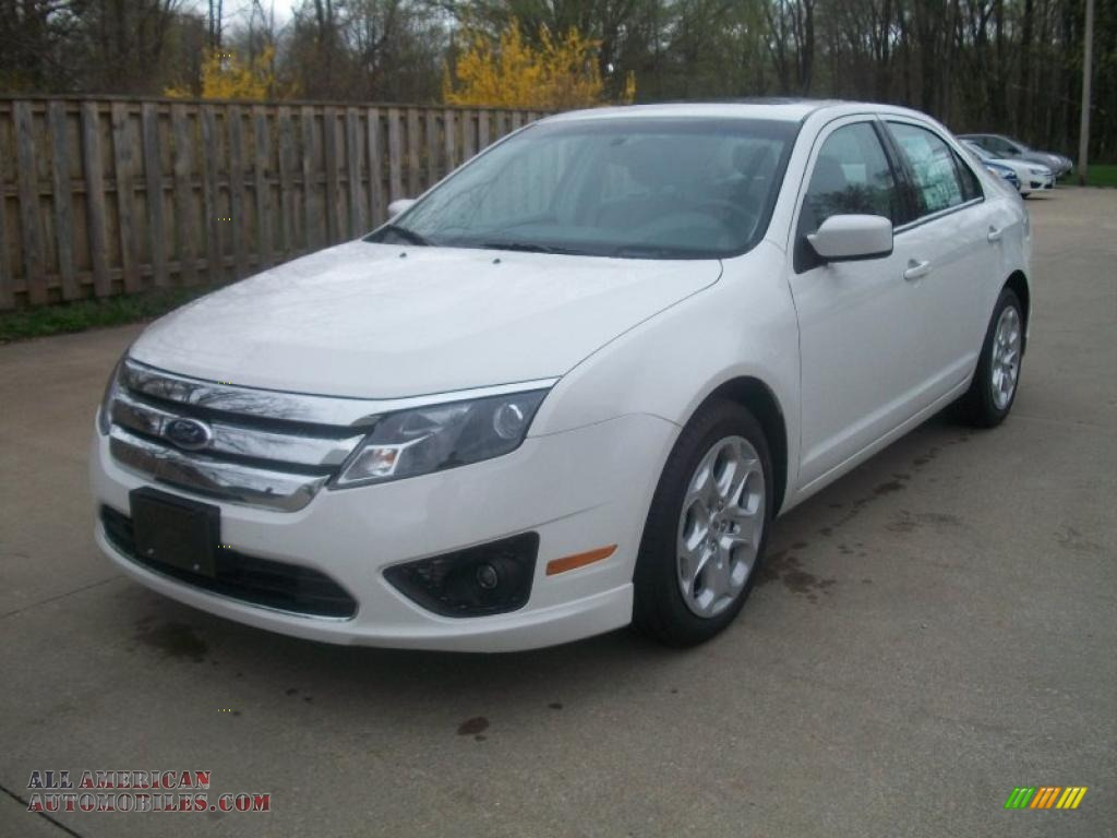 2011 ford fusion se in white suede 296577 all american automobiles. Black Bedroom Furniture Sets. Home Design Ideas