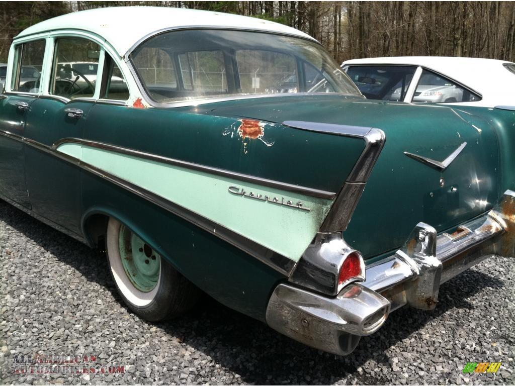 1957 chevrolet 210 4 door in highland green photo 4 for 1957 chevy 210 4 door