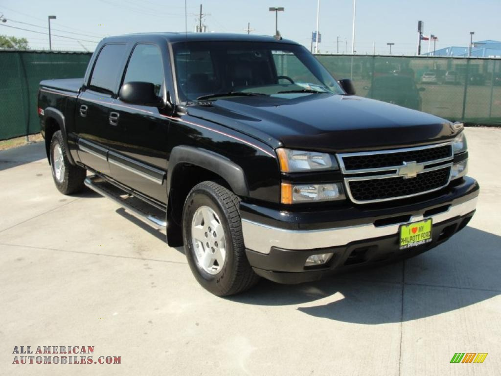 2006 chevrolet silverado 1500 z71 crew cab 4x4 in black 106158 all american automobiles. Black Bedroom Furniture Sets. Home Design Ideas