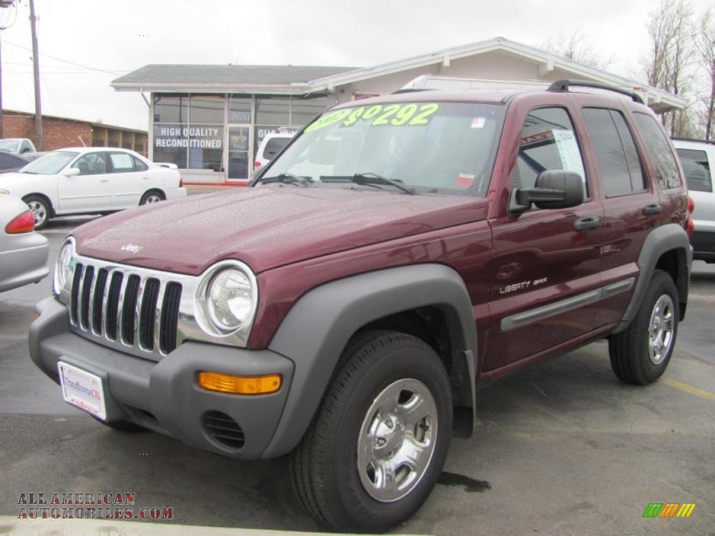 2002 jeep liberty sport 4x4 in dark garnet red pearlcoat. Black Bedroom Furniture Sets. Home Design Ideas