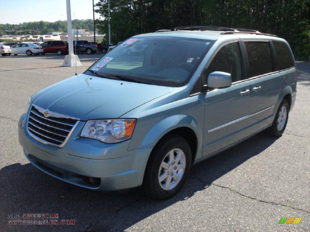 2010 chrysler town country touring in clearwater blue pearl 369659 all american. Black Bedroom Furniture Sets. Home Design Ideas