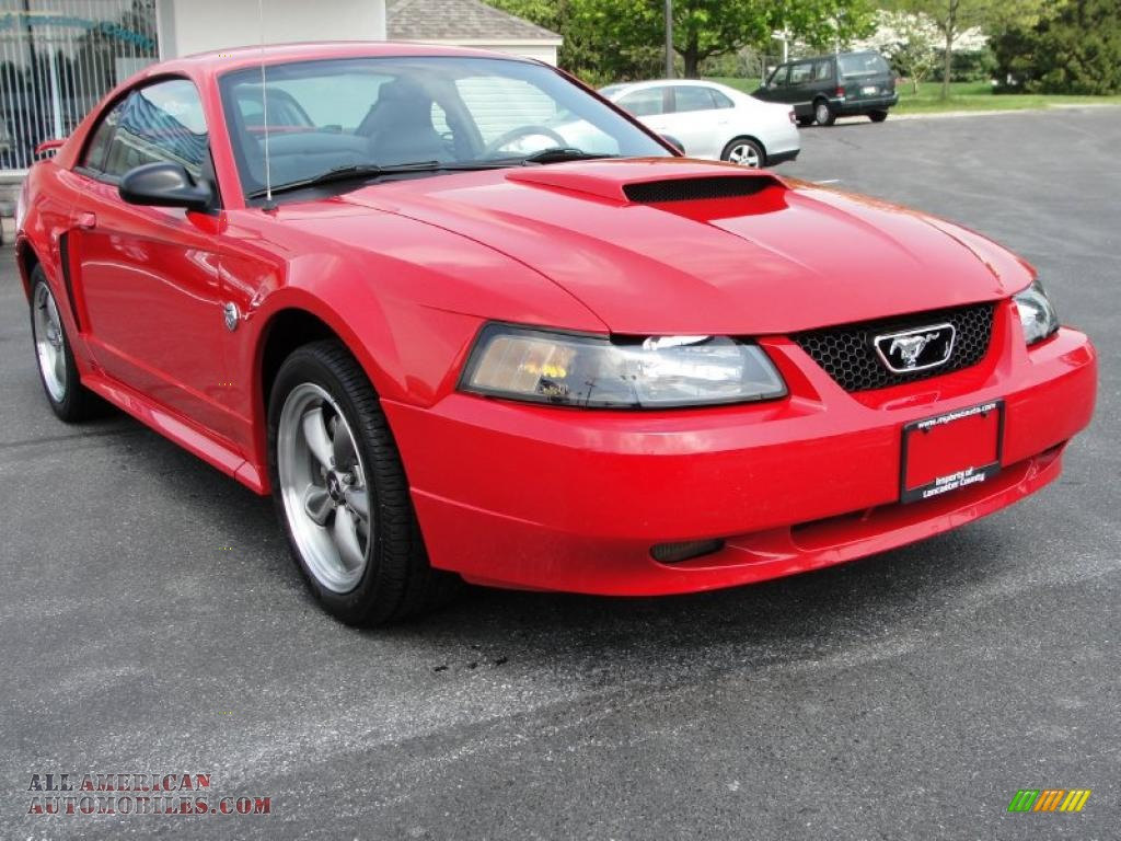 2004 ford mustang gt coupe in 40th anniversary crimson red metallic photo 13 135700 all
