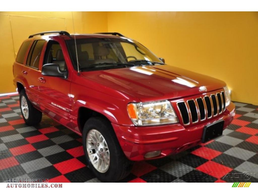 2002 jeep grand cherokee limited 4x4 in inferno red tinted pearlcoat 308091 all american automobiles buy american cars for sale in america all american automobiles
