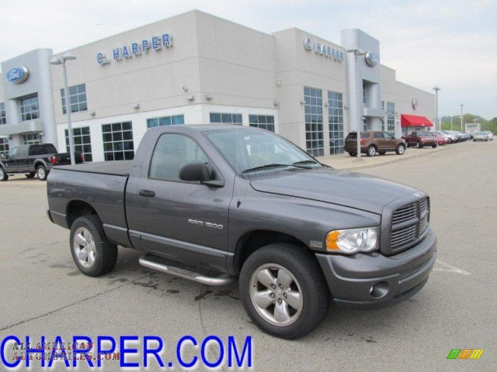 2004 Ram 1500 Slt Regular Cab 4x4 Graphite Metallic Dark