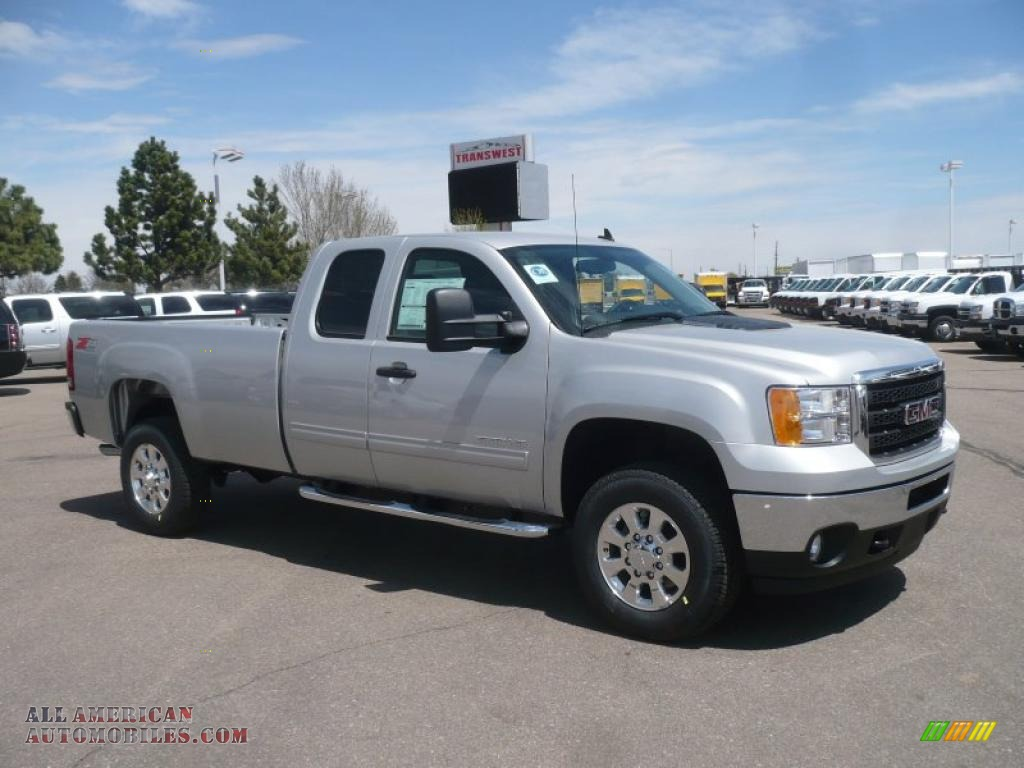 2011 gmc sierra 2500hd sle extended cab 4x4 in pure silver. Black Bedroom Furniture Sets. Home Design Ideas