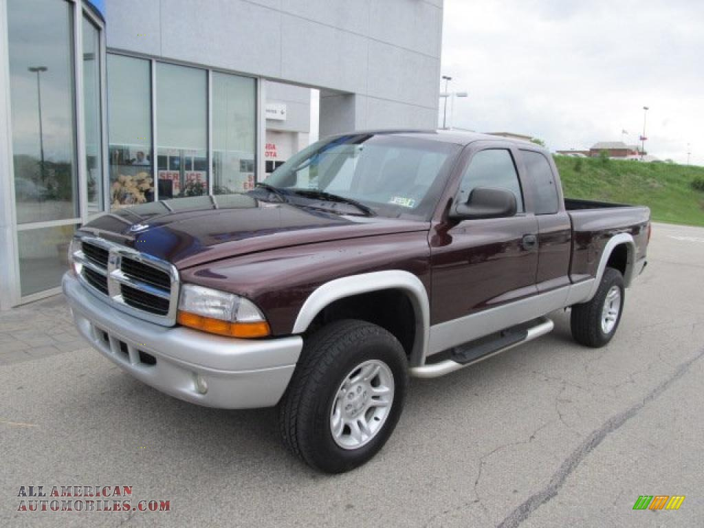 2004 dodge dakota slt club cab 4x4 in deep molten red pearl photo 2 686990 all american. Black Bedroom Furniture Sets. Home Design Ideas