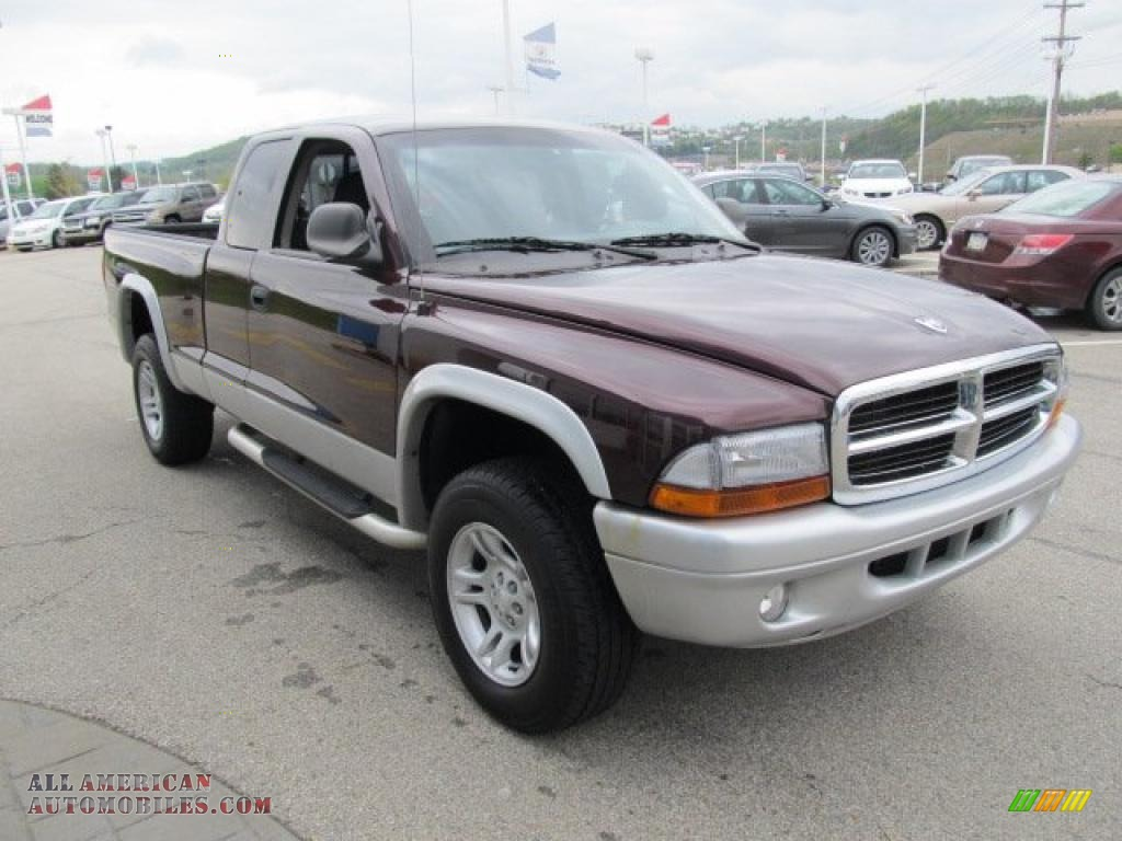 2004 dodge dakota slt club cab 4x4 in deep molten red pearl photo 10 686990 all american. Black Bedroom Furniture Sets. Home Design Ideas