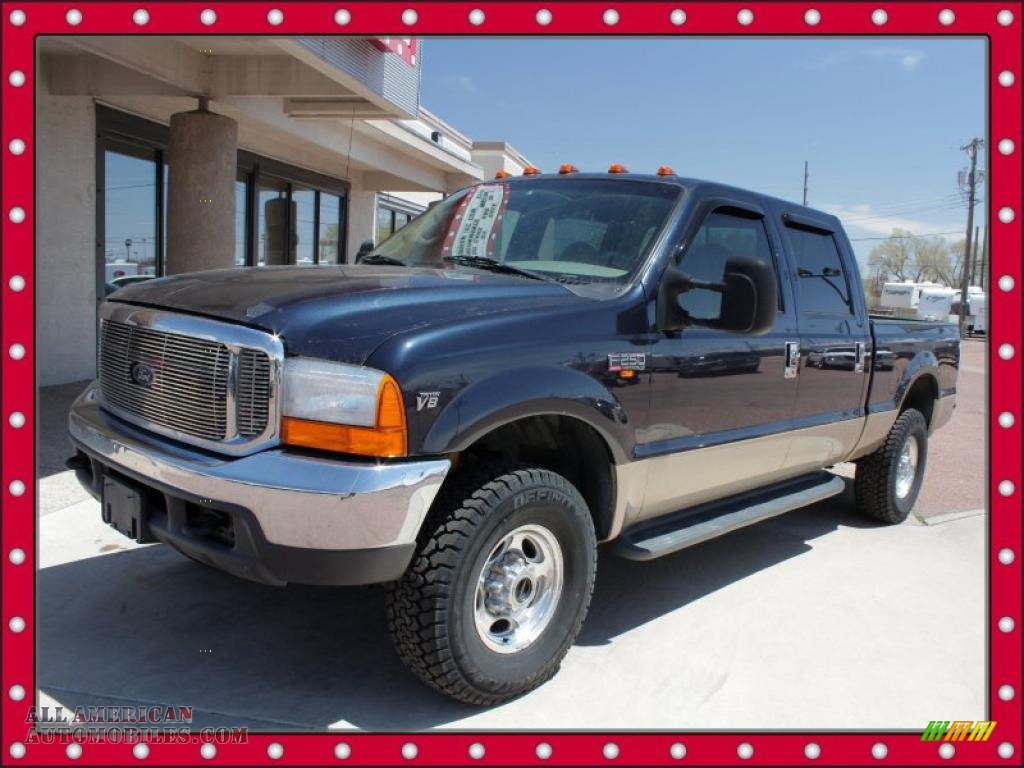 F250 Super Duty Lariat Crew Cab 4x4 in Deep Wedgewood Blue Metallic