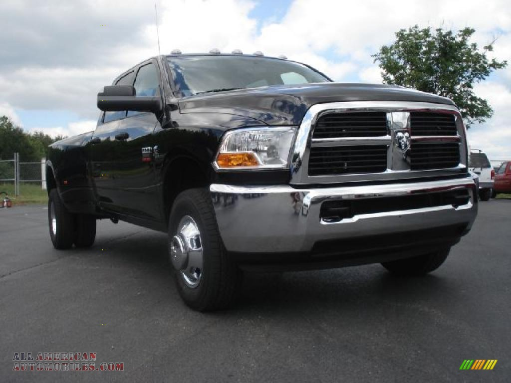 2011 dodge ram 3500 hd st crew cab 4x4 dually in brilliant black crystal pearl 604845 all. Black Bedroom Furniture Sets. Home Design Ideas