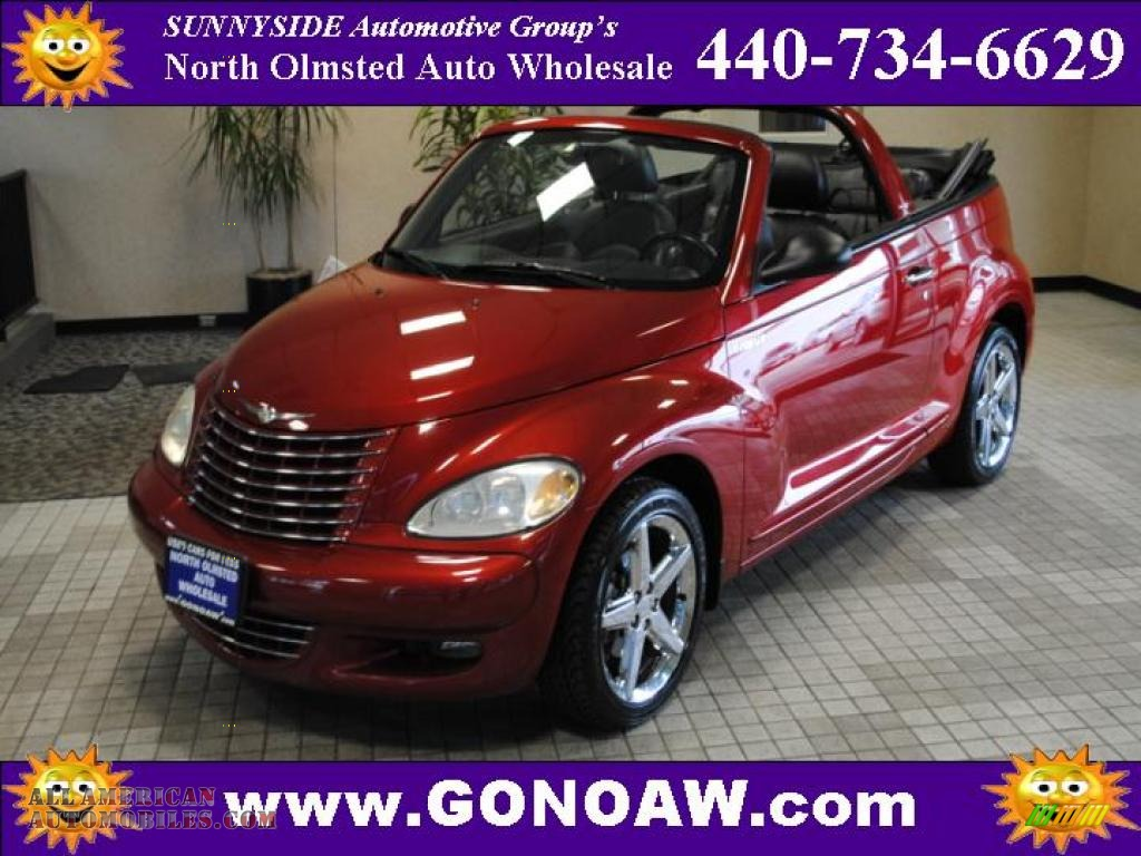2005 Chrysler Pt Cruiser Gt Convertible In Inferno Red