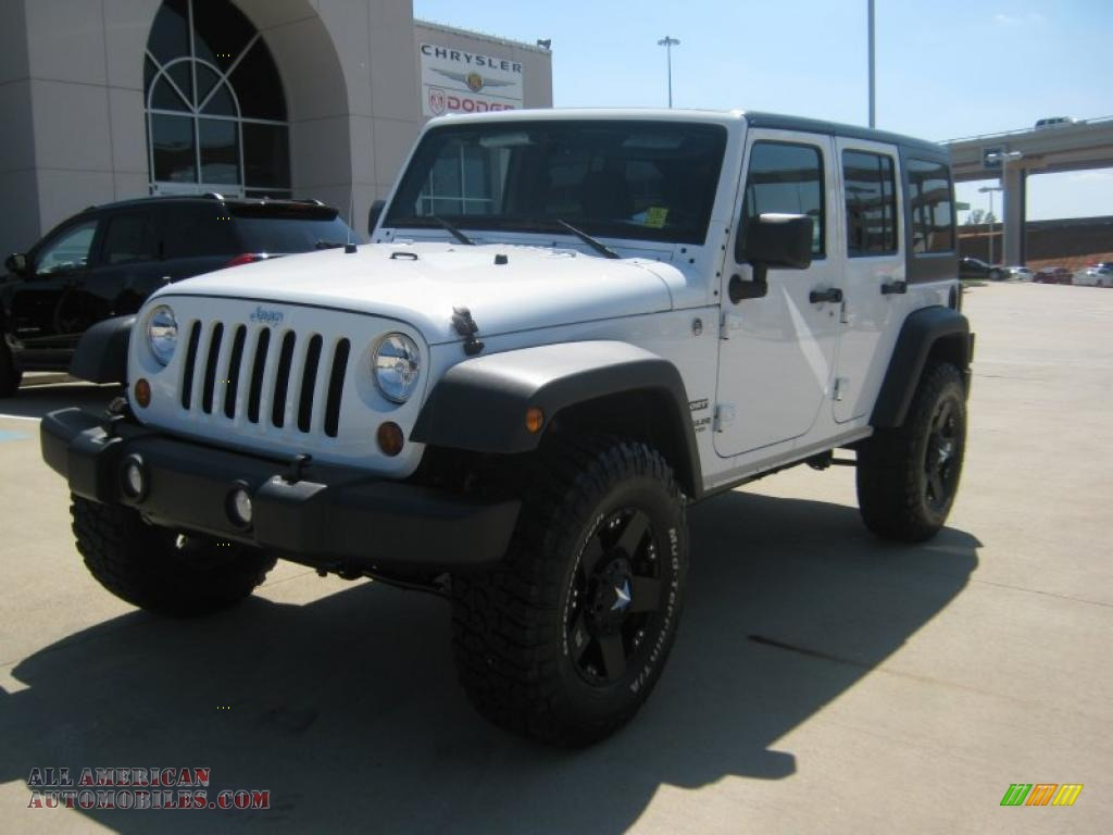 2011 jeep wrangler unlimited sport 4x4 in bright white 561881 all american automobiles buy. Black Bedroom Furniture Sets. Home Design Ideas