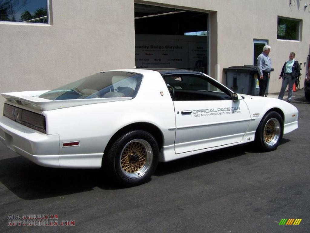 1989 Pontiac Firebird Tta Turbo Trans Am Coupe In White
