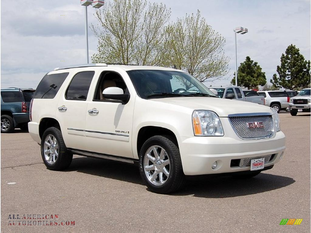 2009 gmc yukon denali awd in white diamond tricoat 224888 all american automobiles buy. Black Bedroom Furniture Sets. Home Design Ideas