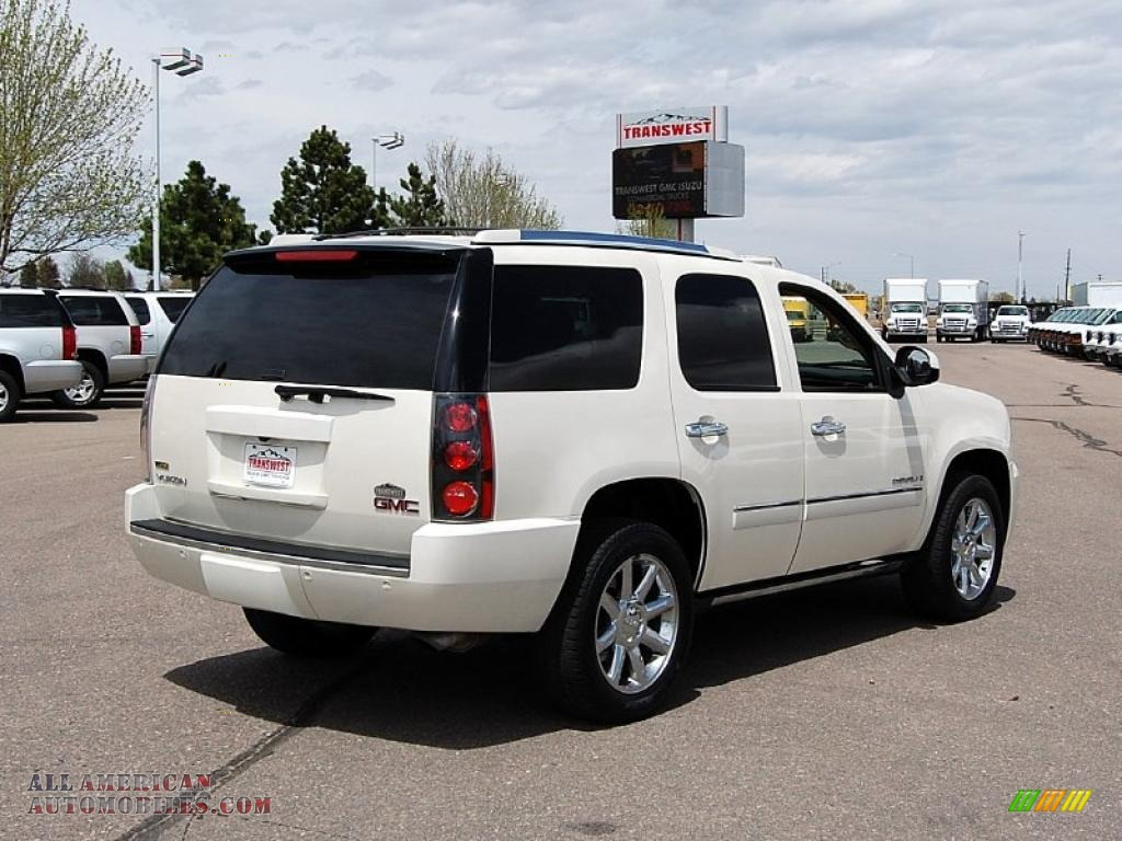 2009 gmc yukon denali awd in white diamond tricoat photo 10 224888 all american automobiles. Black Bedroom Furniture Sets. Home Design Ideas