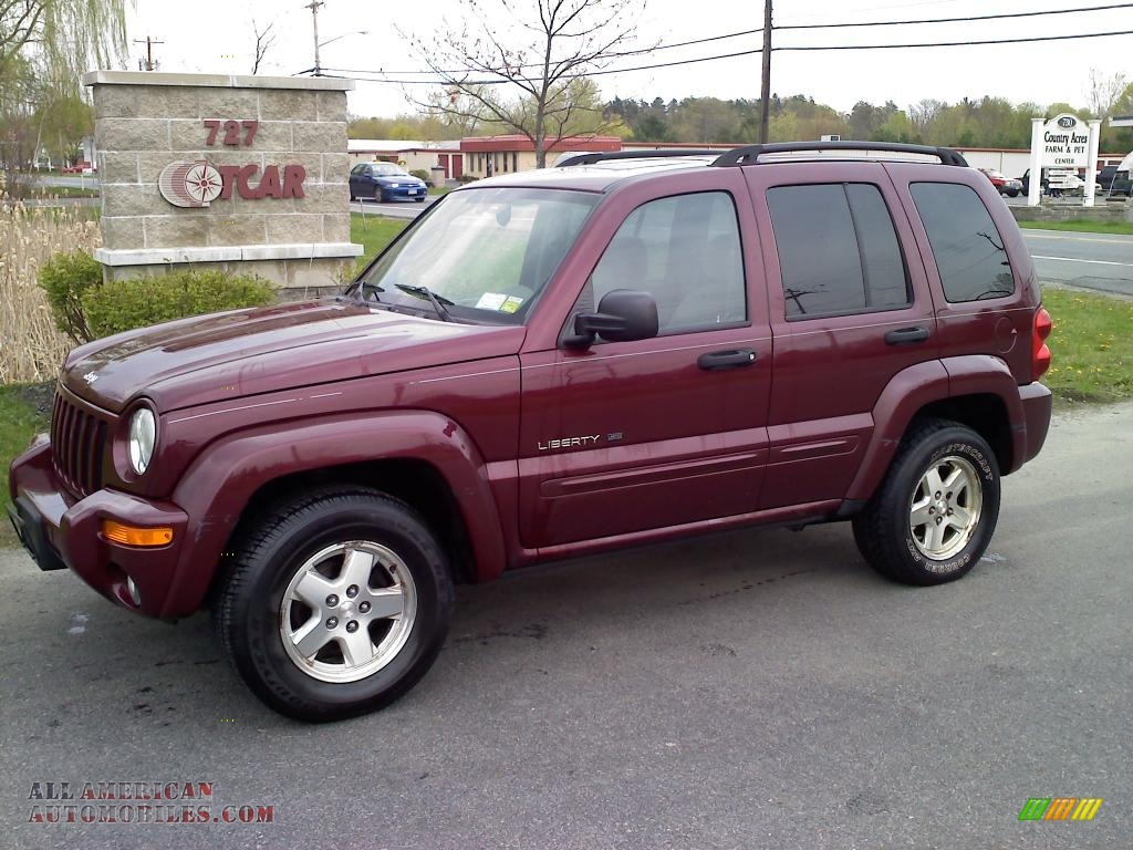 2003 jeep liberty limited 4x4 in dark garnet red pearl 539971 all american automobiles buy. Black Bedroom Furniture Sets. Home Design Ideas