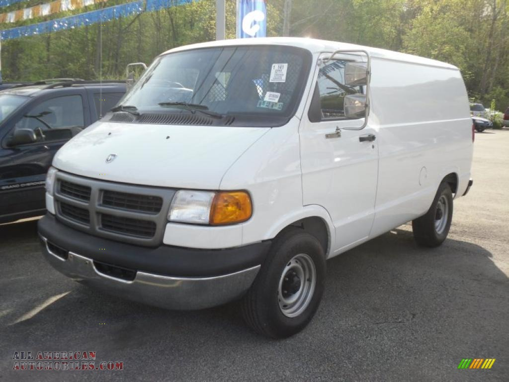2000 dodge ram van 2500 cargo in bright white 168207 all american automobiles buy american. Black Bedroom Furniture Sets. Home Design Ideas