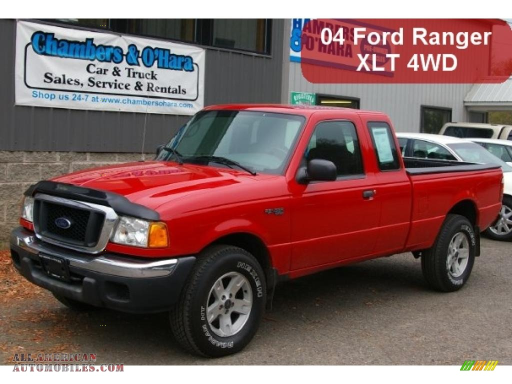 2004 ford ranger xlt supercab 4x4 in bright red b37488 all american automobiles buy. Black Bedroom Furniture Sets. Home Design Ideas
