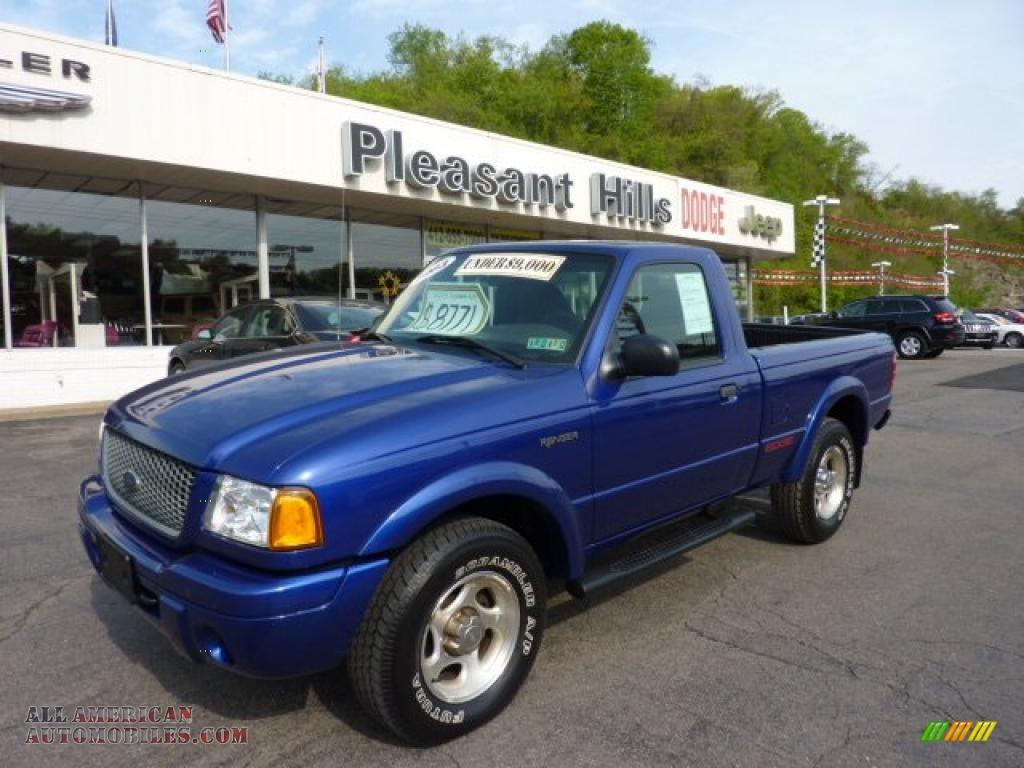 2003 ford ranger edge regular cab 4x4 in sonic blue metallic photo 6 a38091 all american