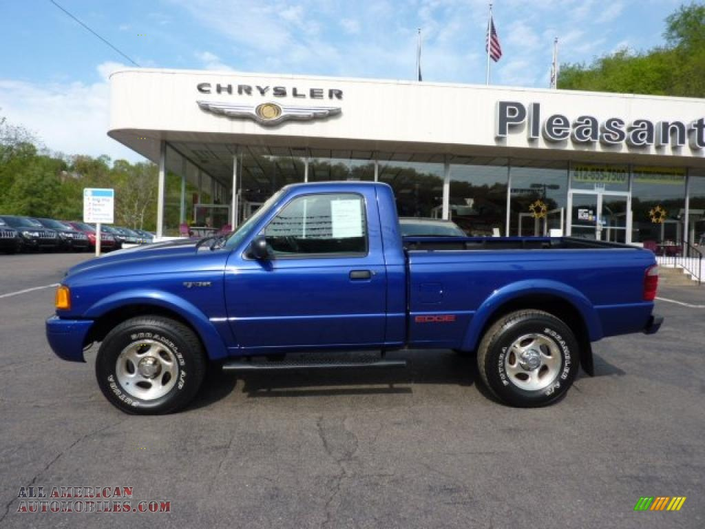 2003 ford ranger edge regular cab 4x4 in sonic blue. Black Bedroom Furniture Sets. Home Design Ideas