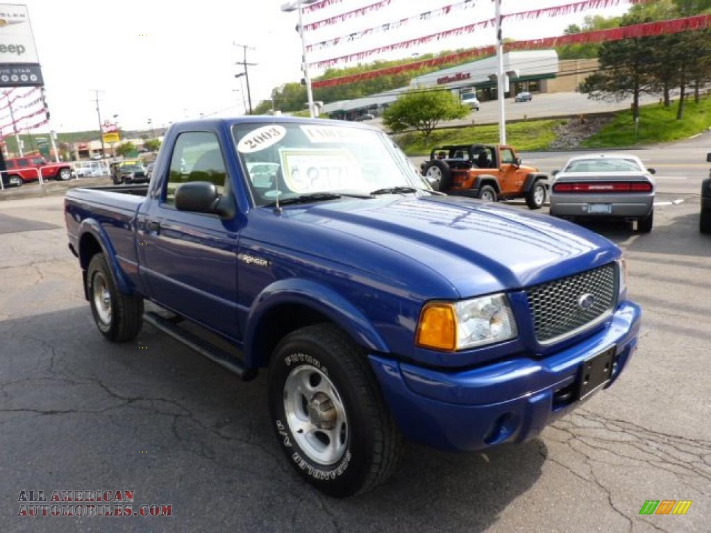Lewis Auto Sales >> 2003 Ford Ranger Edge Regular Cab 4x4 in Sonic Blue Metallic photo #7 - A38091 | All American ...