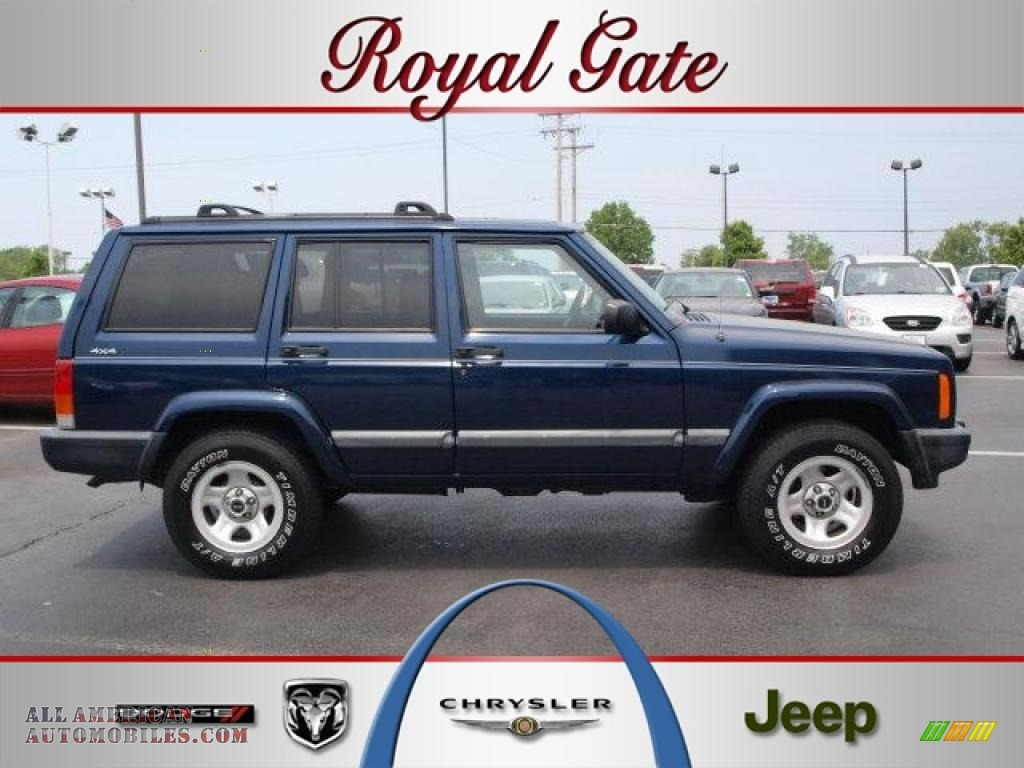 2001 jeep cherokee sport 4x4 in patriot blue pearlcoat for Royal chrysler motors inc