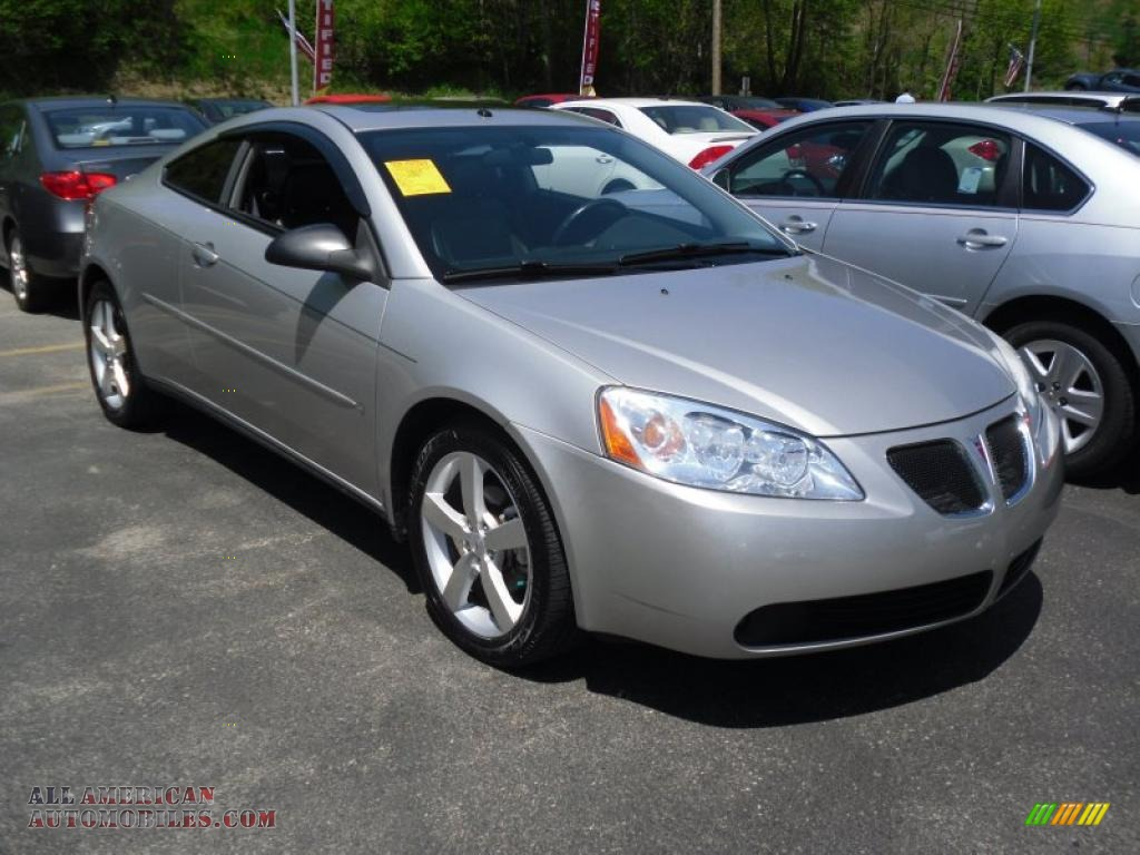 2006 pontiac g6 gtp coupe in liquid silver metallic. Black Bedroom Furniture Sets. Home Design Ideas