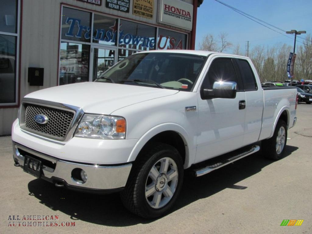 2006 Ford F150 Lariat Supercab 4x4 In Oxford White Photo