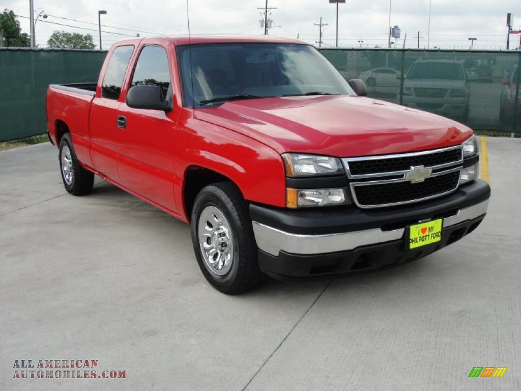 2007 chevrolet silverado 1500 classic ls extended cab in victory red 100141 all american. Black Bedroom Furniture Sets. Home Design Ideas