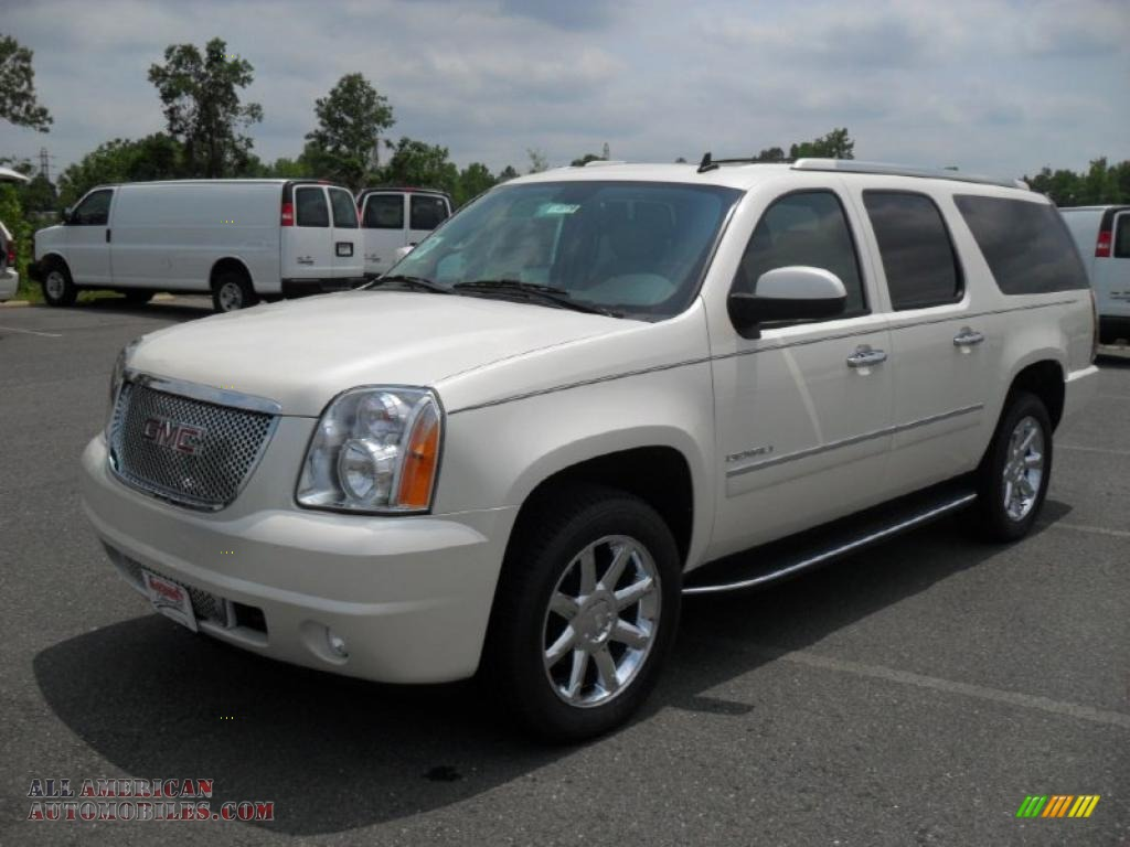 2011 gmc yukon xl denali awd in white diamond tintcoat 316721 all american automobiles buy. Black Bedroom Furniture Sets. Home Design Ideas