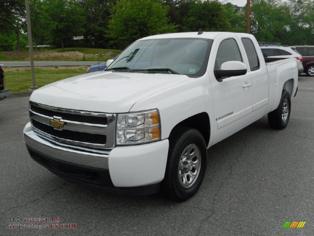 2008 chevrolet silverado 1500 ls extended cab in summit white 162098 all american. Black Bedroom Furniture Sets. Home Design Ideas