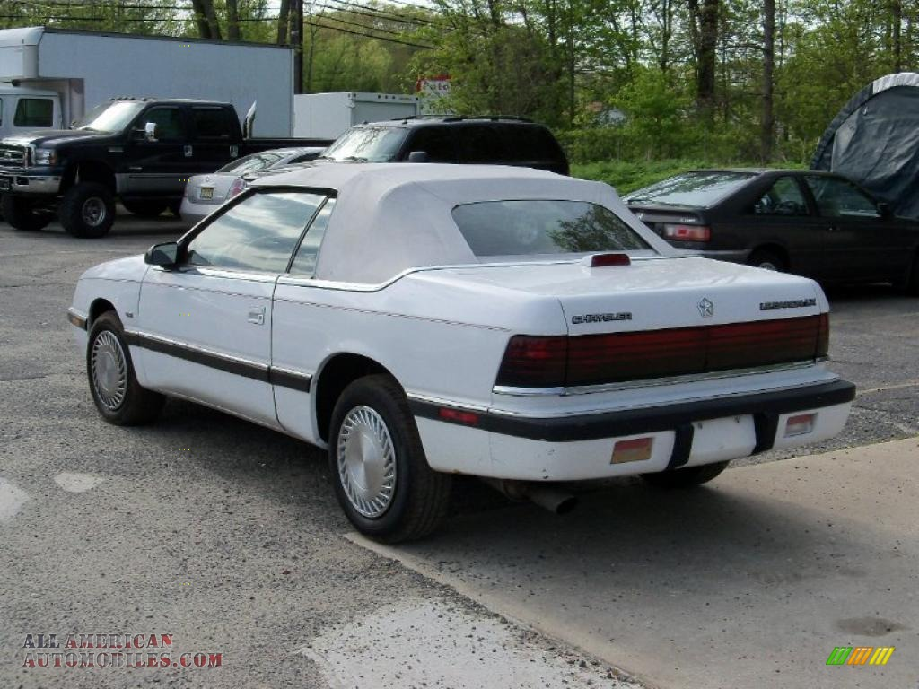1991 Lebaron Premium Lx Convertible Bright White Beige Photo 6