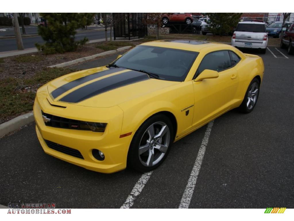 2010 chevrolet camaro ss coupe transformers special edition in rally yellow 141463 all. Black Bedroom Furniture Sets. Home Design Ideas
