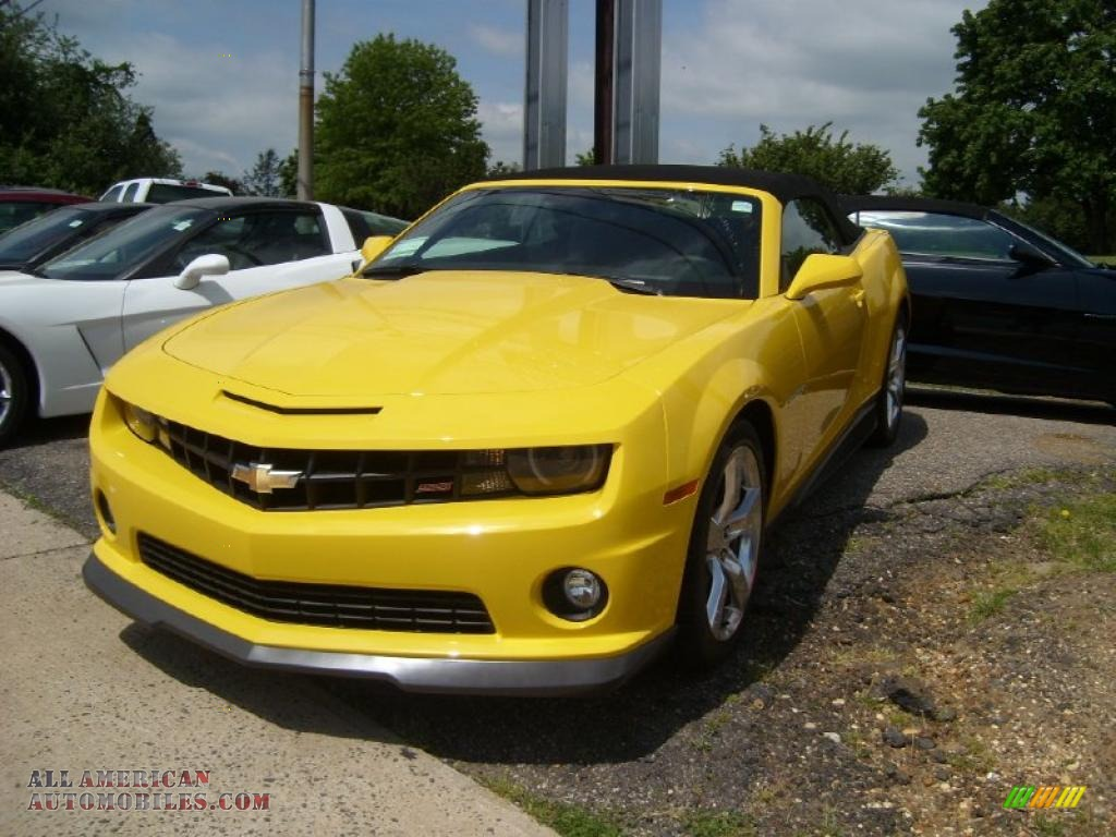 2011 chevrolet camaro ss rs convertible in rally yellow 170277 all american automobiles. Black Bedroom Furniture Sets. Home Design Ideas