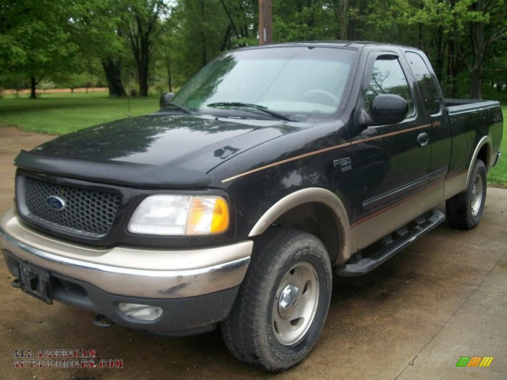 2000 ford f150 lariat extended cab 4x4 in black a83838 all american automobiles buy. Black Bedroom Furniture Sets. Home Design Ideas