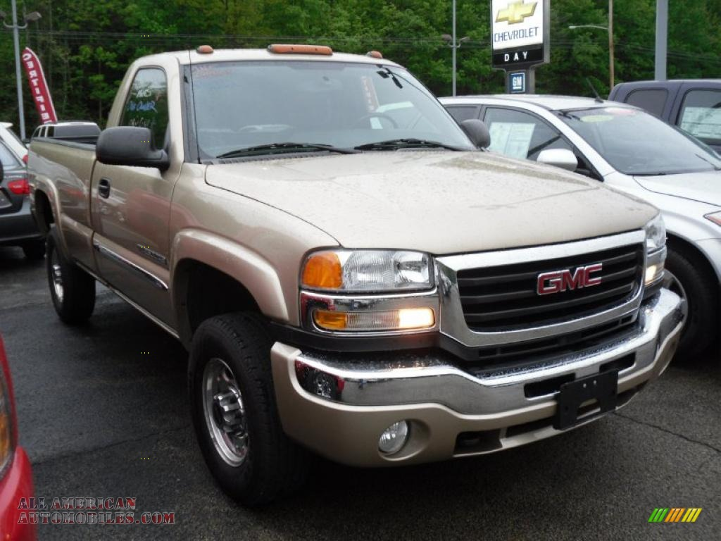 2004 gmc sierra 2500hd sle regular cab 4x4 in sand beige. Black Bedroom Furniture Sets. Home Design Ideas