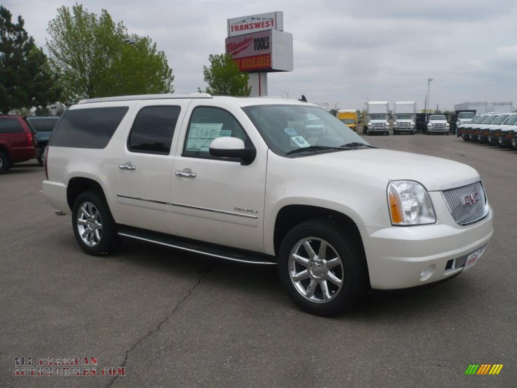 2011 gmc yukon xl denali awd in white diamond tintcoat 271349 all american automobiles buy. Black Bedroom Furniture Sets. Home Design Ideas