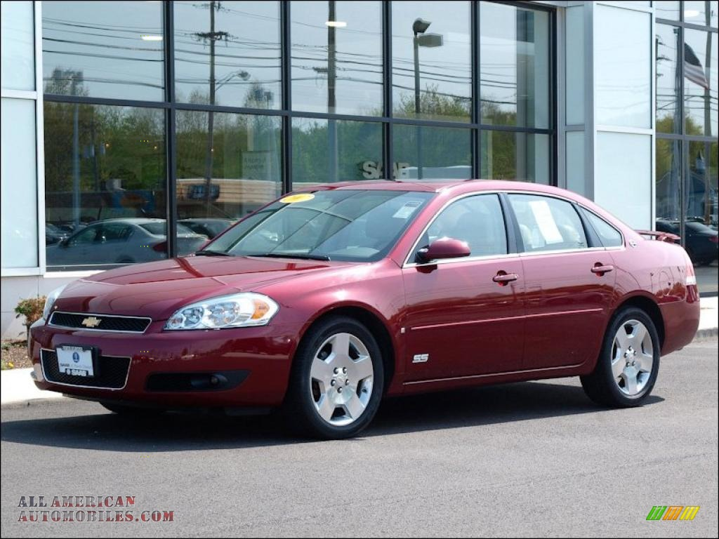 2007 chevrolet impala ss in red jewel tint coat 225630 all american automobiles buy. Black Bedroom Furniture Sets. Home Design Ideas