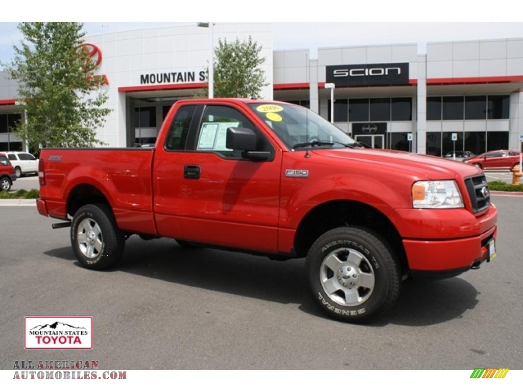 2006 Ford F150 Stx Regular Cab 4x4 In Bright Red A34631