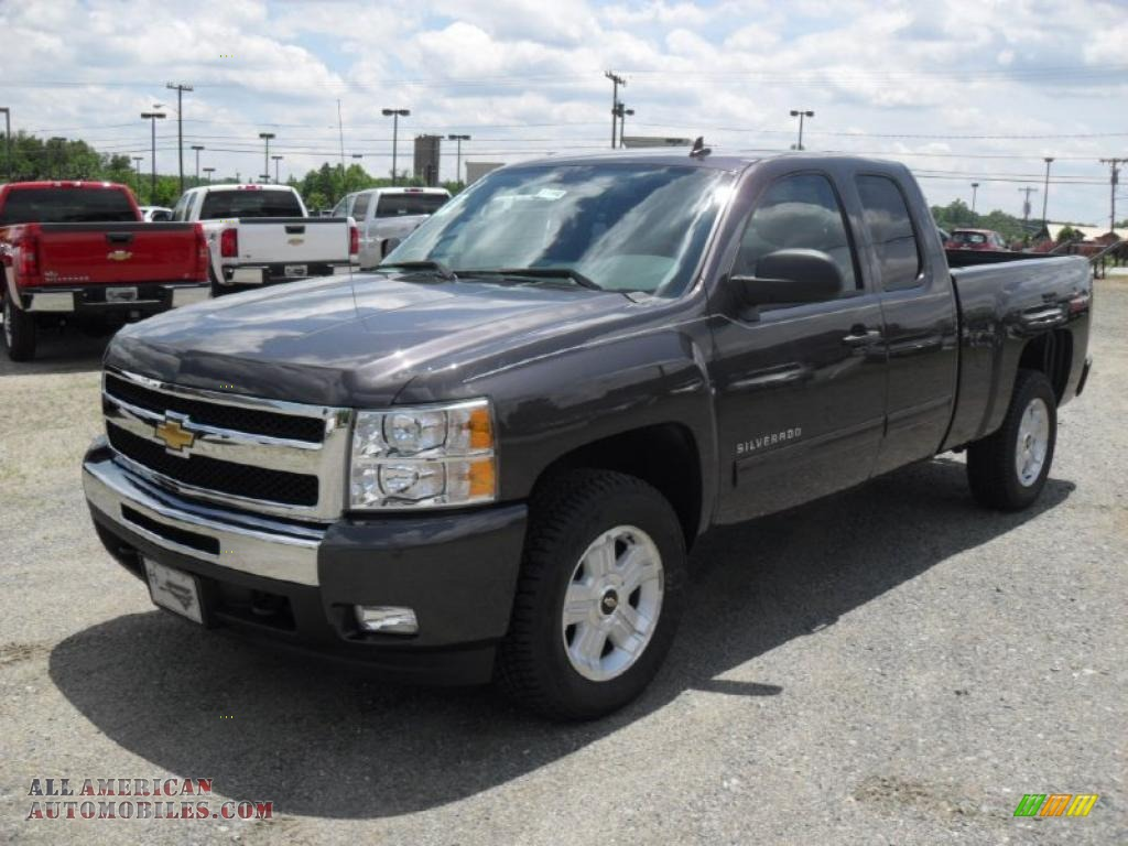 2011 chevrolet silverado 1500 lt extended cab in black granite metallic 347675 all american. Black Bedroom Furniture Sets. Home Design Ideas