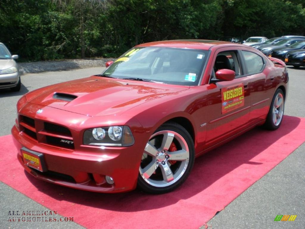 2006 dodge charger srt 8 in inferno red crystal pearl for Steve white motors inc
