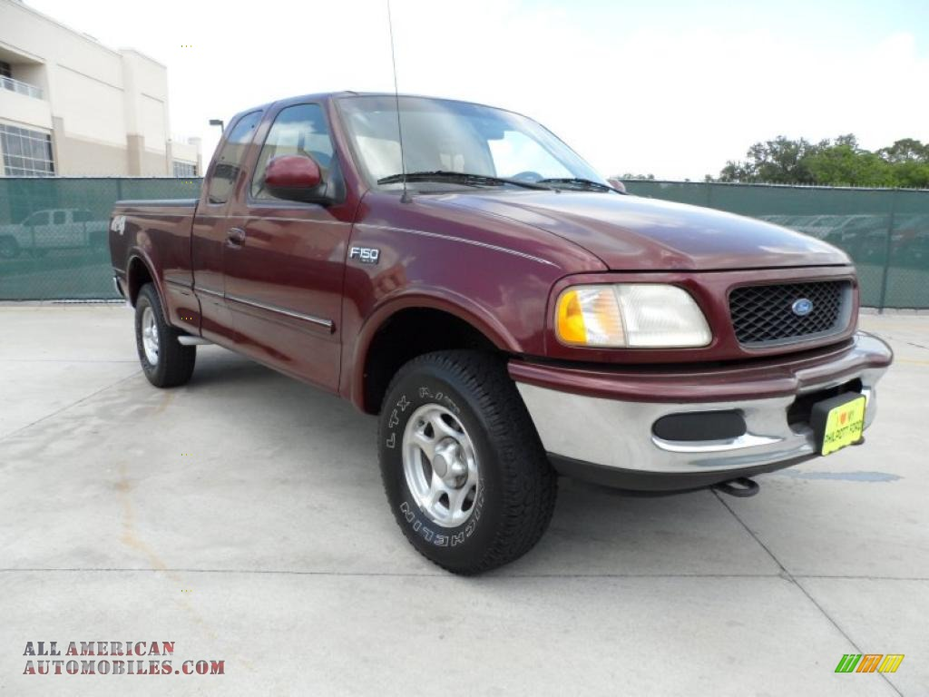 1997 ford f150 xlt extended cab 4x4 in dark toreador red metallic d16699 all american. Black Bedroom Furniture Sets. Home Design Ideas
