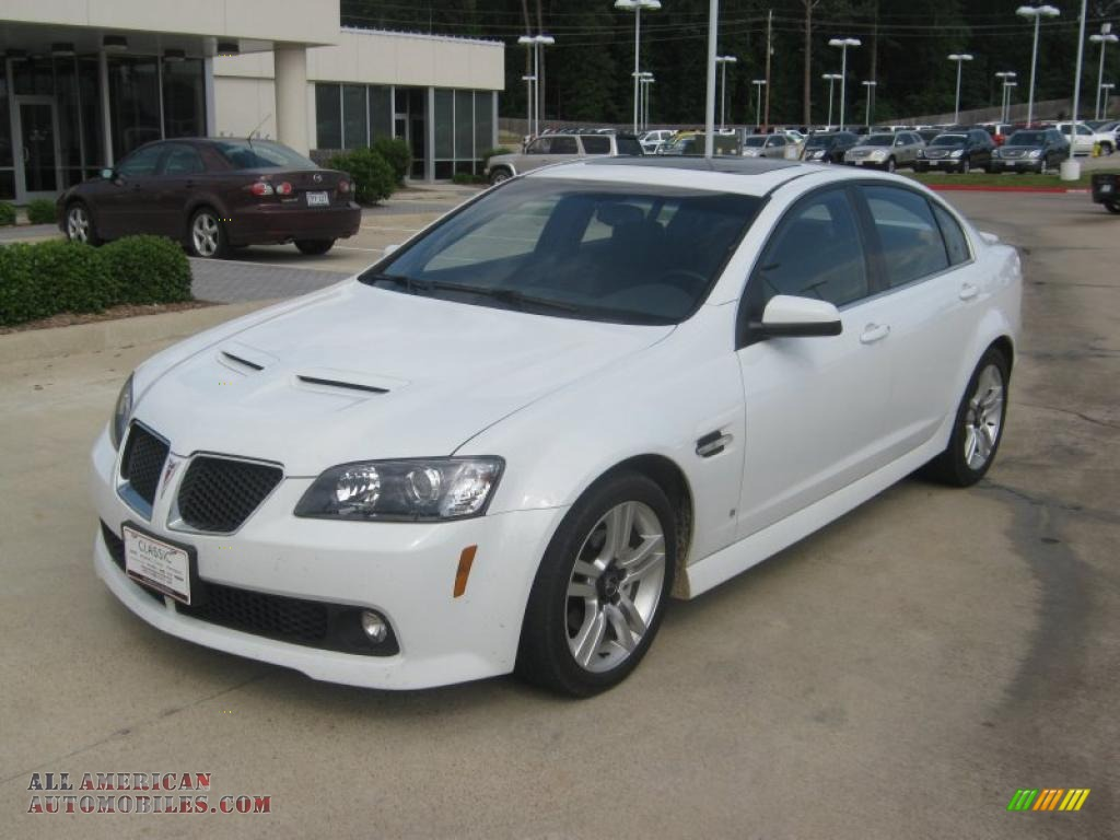 2009 Pontiac G8 Sedan In White Hot 227373 All American