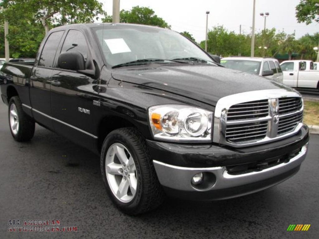2008 dodge ram 1500 big horn edition quad cab in brilliant black crystal pearl 121196 all. Black Bedroom Furniture Sets. Home Design Ideas