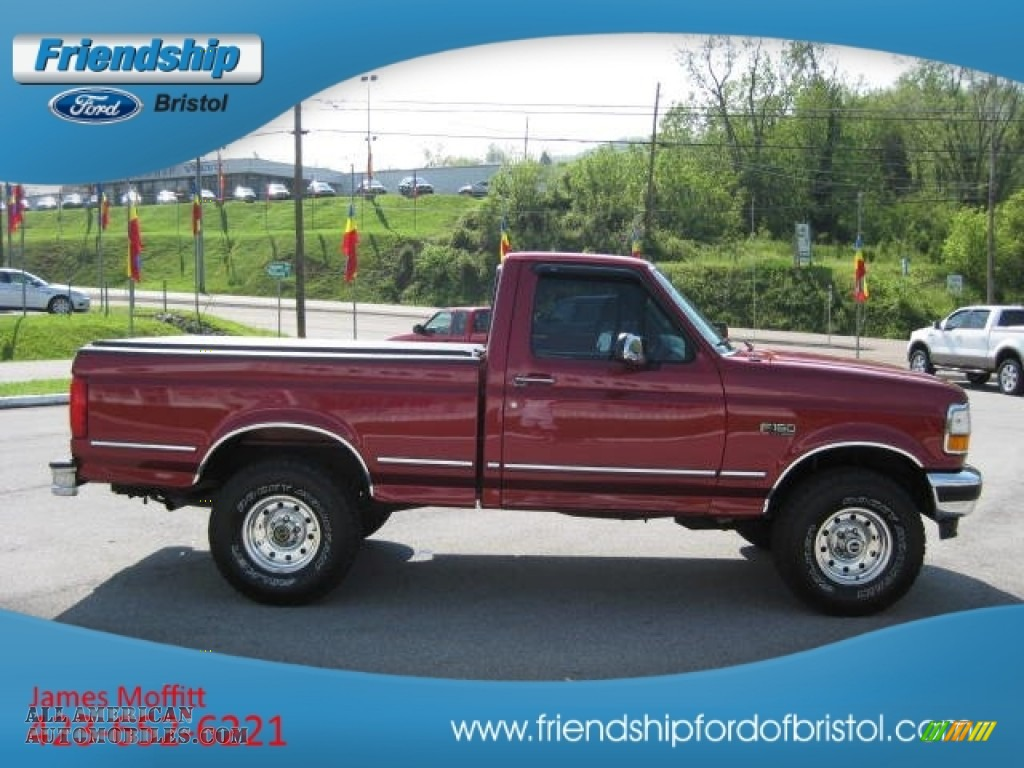 1995 ford f150 xlt regular cab 4x4 in electric currant red pearl photo 5 b38612 all. Black Bedroom Furniture Sets. Home Design Ideas