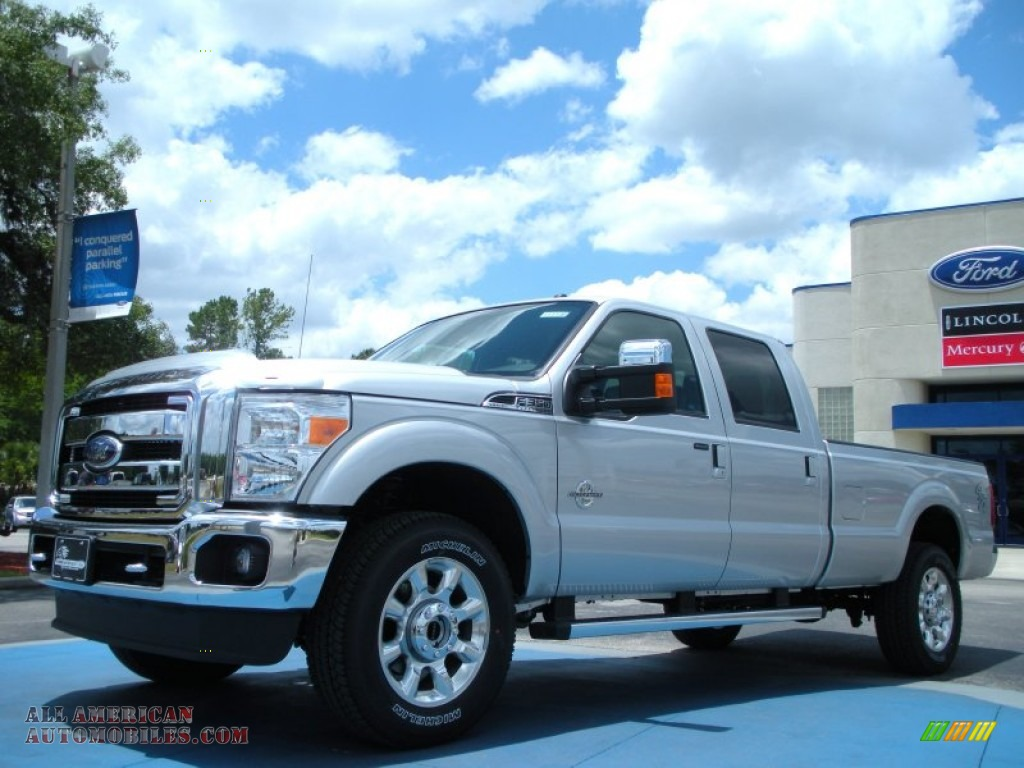 2011 ford f350 super duty lariat crew cab 4x4 in ingot silver metallic c73818 all american. Black Bedroom Furniture Sets. Home Design Ideas
