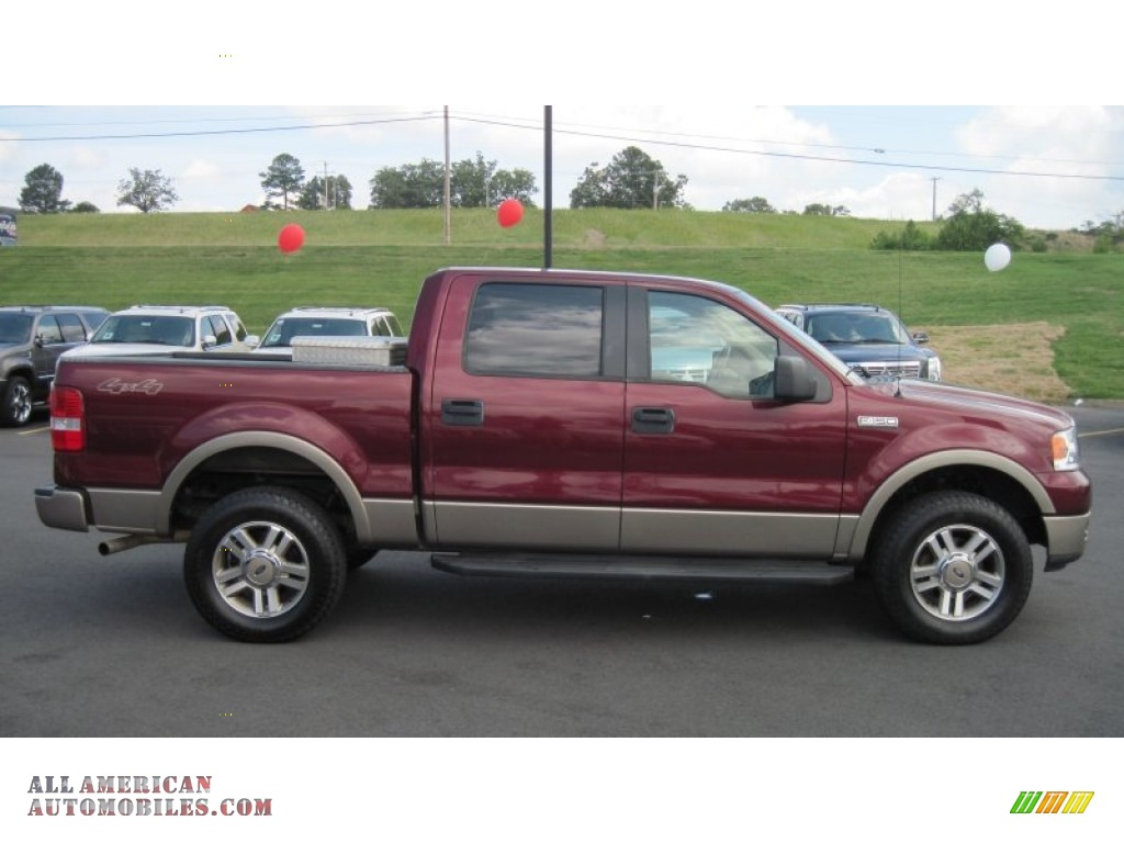 2005 ford f150 lariat supercrew 4x4 in dark toreador red. Black Bedroom Furniture Sets. Home Design Ideas