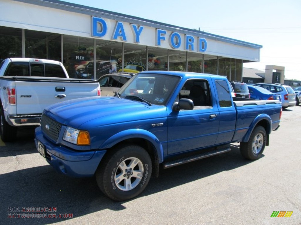 2002 Ford Ranger Edge Supercab 4x4 In Bright Island Blue