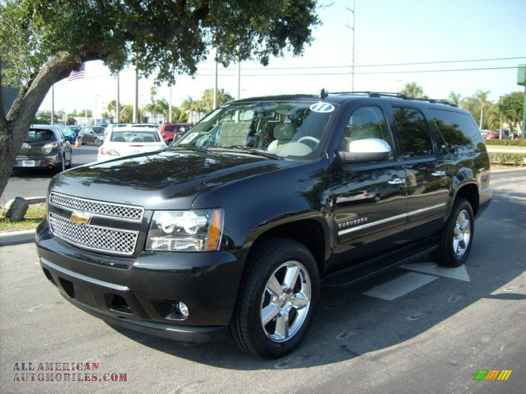 2011 chevrolet suburban ltz in black granite metallic. Black Bedroom Furniture Sets. Home Design Ideas
